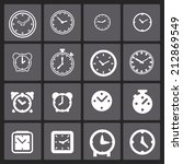 clock icon set | Shutterstock .eps vector #212869549