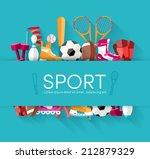 sport vector centet... | Shutterstock .eps vector #212879329