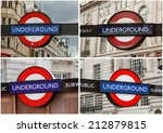 Set Of Underground Station Sig...