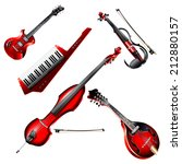 musical background series. set... | Shutterstock .eps vector #212880157
