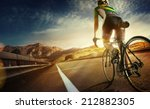 cyclist riding a bike on an... | Shutterstock . vector #212882305