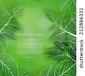 blurred green background with... | Shutterstock .eps vector #212886331