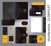 stationery set design  ... | Shutterstock .eps vector #212895157