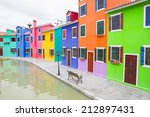 colorful buildings | Shutterstock . vector #212897431