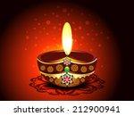 diwali deepak background vector ... | Shutterstock .eps vector #212900941