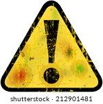 danger warning sign w.... | Shutterstock .eps vector #212901481