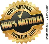 gold 100  natural sign | Shutterstock .eps vector #212906884