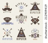 hipster style elements and... | Shutterstock .eps vector #212909419