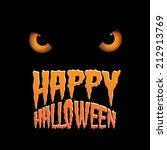 owl eyes happy halloween design | Shutterstock . vector #212913769