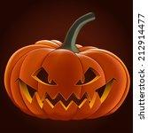 pumpkin for halloween  vector... | Shutterstock .eps vector #212914477