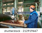 industrial worker at factory on ... | Shutterstock . vector #212919667