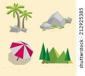 set of landscapes vector... | Shutterstock .eps vector #212925385