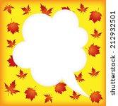 autumn greeting speech bubbles... | Shutterstock .eps vector #212932501