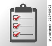 check list  conceptual of a... | Shutterstock .eps vector #212940925