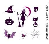 halloween icons set | Shutterstock .eps vector #212941264