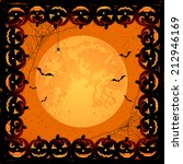 halloween night background with ... | Shutterstock .eps vector #212946169