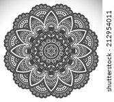 mandala. round ornament pattern....   Shutterstock .eps vector #212954011