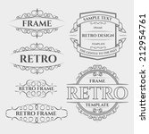vector set retro label style... | Shutterstock .eps vector #212954761