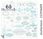 vector set  calligraphic... | Shutterstock .eps vector #212956009