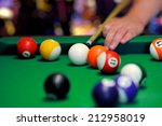 Billiard Balls In A Green Pool...