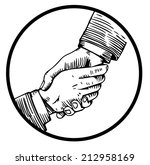 helping hand engraving | Shutterstock .eps vector #212958169