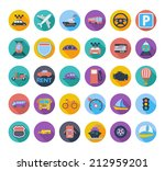 transportation icon set with... | Shutterstock .eps vector #212959201