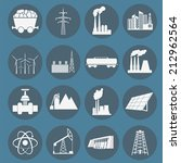 set 16 fuel and energy icons.... | Shutterstock .eps vector #212962564
