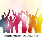 dancing people silhouettes | Shutterstock .eps vector #212963719