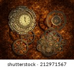 Steampunk Style Background Wit...