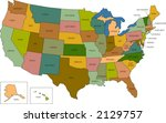 a full color map of the united...   Shutterstock .eps vector #2129757