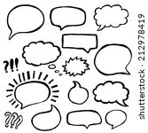 set of hand drawn comics style... | Shutterstock .eps vector #212978419