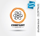 atom sign icon. atom part... | Shutterstock .eps vector #212979631