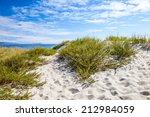 sunny beach with sand dunes and ...   Shutterstock . vector #212984059