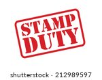 stamp duty red rubber stamp...   Shutterstock .eps vector #212989597
