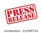 press release red rubber stamp... | Shutterstock .eps vector #212989714