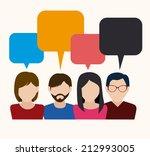 people design over white... | Shutterstock .eps vector #212993005