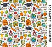 sticker school pattern. themed... | Shutterstock .eps vector #212996101