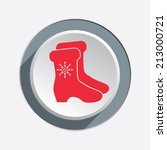 christmas icon. red silhouette... | Shutterstock .eps vector #213000721