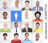 group of multiethnic diverse... | Shutterstock . vector #213007714