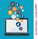technology design over blue... | Shutterstock .eps vector #213010489