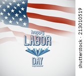 labor day with american flag... | Shutterstock .eps vector #213010519