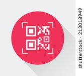 qr codes button | Shutterstock .eps vector #213018949