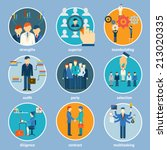 variety human resource icons... | Shutterstock .eps vector #213020335
