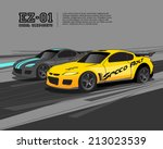 racing car design template | Shutterstock .eps vector #213023539