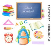 school elements isolated on... | Shutterstock .eps vector #213031981