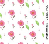 floral background. seamless... | Shutterstock .eps vector #213034927