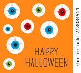 eyeball set with bloody streaks.... | Shutterstock .eps vector #213034951