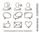 communication icons collection. ...