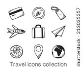 travel icons collection. eps 10 ...