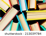 Multi Coloured Books From Above....